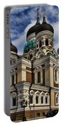 Cathedral In Tallinn Portable Battery Charger by David Smith