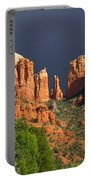Cathedral Rock Before The Storm Portable Battery Charger