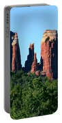 Cathedral Rock Behind The Forest Portable Battery Charger