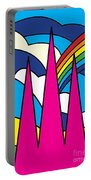 Cathedral Spires Stained Glass Lichfield Portable Battery Charger