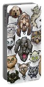 Cats And Dogs Portable Battery Charger