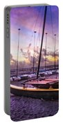 Cats At Dawn Portable Battery Charger