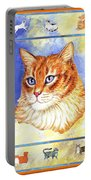 Cats Purrfection Five - Orange Tabby Portable Battery Charger