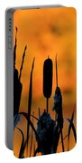 Cattail Silhouette Portable Battery Charger