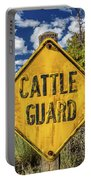 Cattle Guard Road Sign Portable Battery Charger