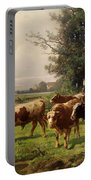 Cattle Heading To Pasture Portable Battery Charger