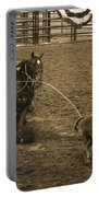Cattle Roping In Colorado Portable Battery Charger