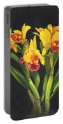Cattleya Orchid Portable Battery Charger by Richard Harpum