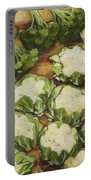 Cauliflower March Portable Battery Charger by Jen Norton