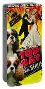 Cavalier King Charles Spaniel Art - Top Hat Movie Poster Portable Battery Charger