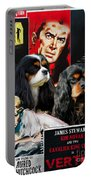 Cavalier King Charles Spaniel Art - Vertigo Movie Poster Portable Battery Charger