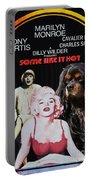 Cavalier King Charles Spaniel Art -some Like It Hot Movie Poster Portable Battery Charger