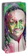 Cecil Taylor - Watercolor Portrait Portable Battery Charger