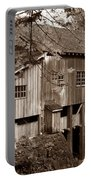 Cedar Creek Grist Mill Sepia Portable Battery Charger