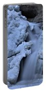 Cedar Falls In Winter At Hocking Hills Portable Battery Charger