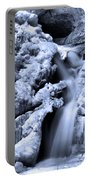 Cedar Falls In Winter Portable Battery Charger