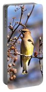 Cedar Waxwing - Img_9609-006 Portable Battery Charger