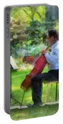 Cellist In The Garden Portable Battery Charger