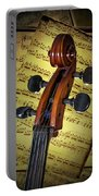 Cello Scroll With Sheet Music Portable Battery Charger