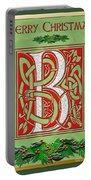 Celtic Christmas B Initial Portable Battery Charger