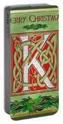 Celtic Christmas K Initial Portable Battery Charger