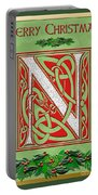 Celtic Christmas N Initial Portable Battery Charger