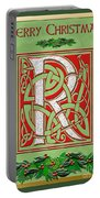 Celtic Christmas R Initial Portable Battery Charger