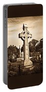 Celtic Cross In Sepia 1 Portable Battery Charger