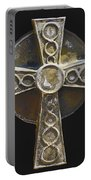Celtic Cross Sepia Portable Battery Charger