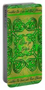 Celtic Irish Clover Home Blessing Portable Battery Charger