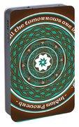 Celtic Lotus Mandala Portable Battery Charger