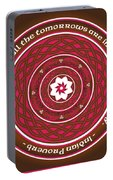 Celtic Lotus Mandala In Pink And Brown Portable Battery Charger