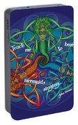 Celtic Mermaid Mandala Portable Battery Charger