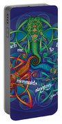 Celtic Mermaid Mandala Portable Battery Charger