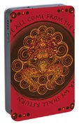 Celtic Pagan Fertility Goddess In Red Portable Battery Charger