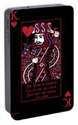 Celtic Queen Of Hearts Part IIi The King Of Hearts Portable Battery Charger
