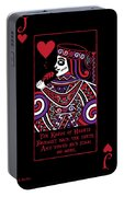 Celtic Queen Of Hearts Part Iv The Broken Knave Portable Battery Charger
