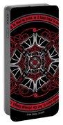 Celtic Vampire Bat Mandala Portable Battery Charger
