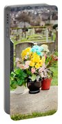 Cemetery Flowers Portable Battery Charger