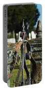 Cemetery Gate With Peeling Paint Portable Battery Charger