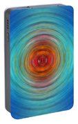 Center Point - Abstract Art By Sharon Cummings Portable Battery Charger