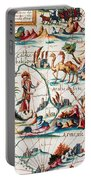 Central Asia Pierre Descelierss Map Portable Battery Charger by Photo Researchers
