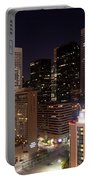 Central Houston At Night Portable Battery Charger