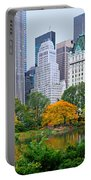Central Park And Fifth Autumn View Portable Battery Charger