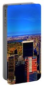 Central Park And New York City In Autumn Portable Battery Charger