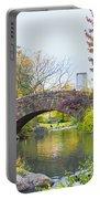 Central Park Gapstow Bridge Autumn II Portable Battery Charger