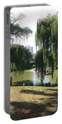 Central Park In The Summer Portable Battery Charger