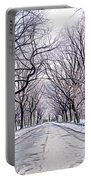 Central Park Mall In Winter Portable Battery Charger