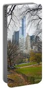 Central Park South Buildings From Central Park Portable Battery Charger