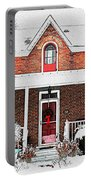 Century Home With Christmas Wreath Portable Battery Charger